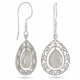 Silver and mother-of-pearl pendant silver drop set