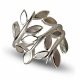 Sterling silver flower Mother of pearl ovale ring