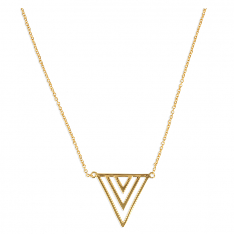 lower price with vast selection 100% top quality Collier Plaqué Or Stylisé Triangle Inversé | Aden