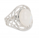 Gift Idea Woman-Fine Stones-Ring-Moon Stone-Sterling Silver-Woman
