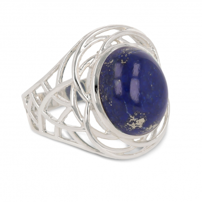 Gift Idea Woman-Fine Stones-Ring-Lapis Lazuli Stone-Sterling Silver-Woman