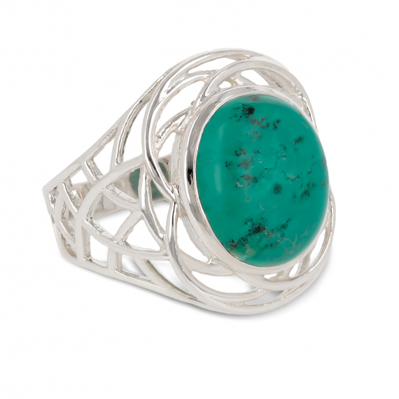 Idea regalo Donna Pietre Sterling Silver Turquoise Ring Woman