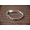 Girl Gift-Bracelet-Fine Stones-Solid Silver-Soft Ring-Woman