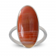 birthday gift woman ring woman orange agate and rhodium silver 925-000