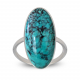 birthday gift woman ring woman Turquoise and rhodium silver 925-000