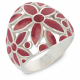 Gift Jewelry-Ring-Flower-Coral- Sterling Silver-Woman