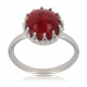 Gift Idea Mom-Creation-Coral Ring-Sterling Silver-Round-Woman