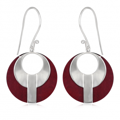 corall earrings and silver ethnic