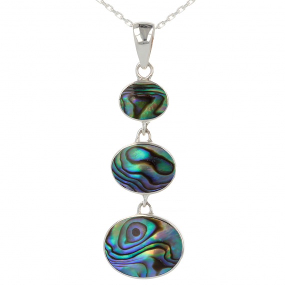 925 Sterling Silver Abalone Mother-of-pearl Pendant