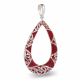 Pendant coral and lacework silver 925 K