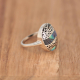 Mother of pearl natural abalone ring with 925-000 silverlacework