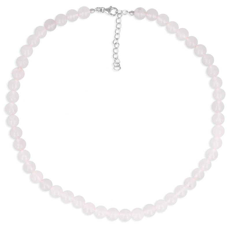 Idea gift for her Necklace Woman pink Quartz Gems