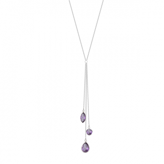 925 Sterling Silver Amethyst Necklace