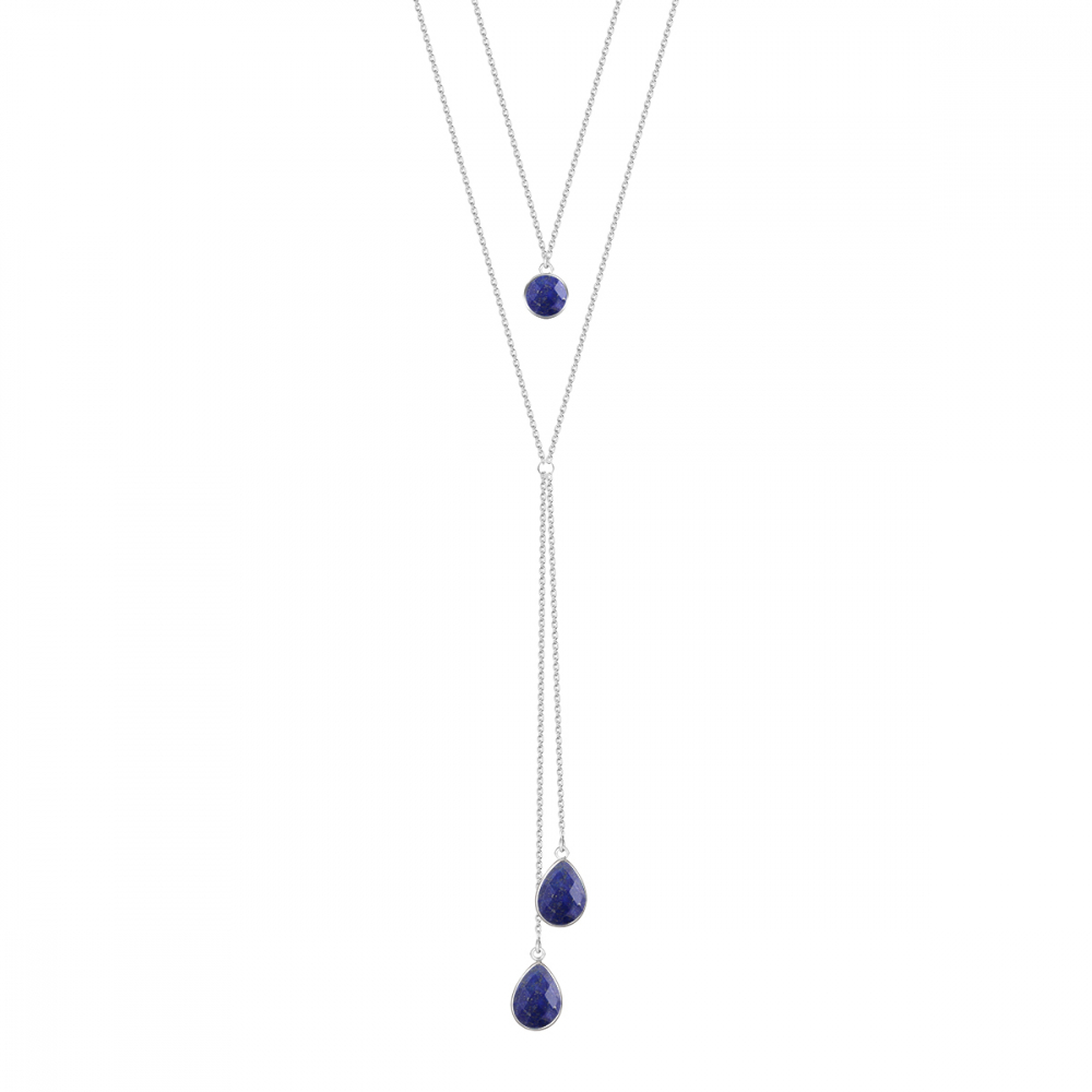 925 Sterling Silver Lapis Lazuli Necklace