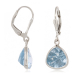 Faceted Topaz earrings setting 925 sterling silver