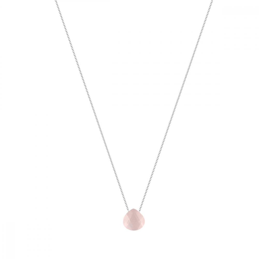 925 Sterling Silver faceted Moonstone Necklace