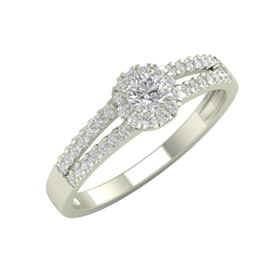 Bague Or 750 Blanc Diamants 1.902grs