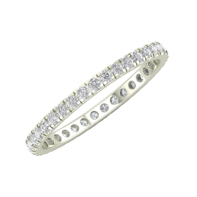 Bague Or 750 Blanc Diamants 1.40grs