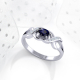 Bague Or Blanc Saphir et diamants 2.684grs