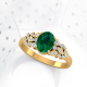 Gold Emerald Diamonds Ring