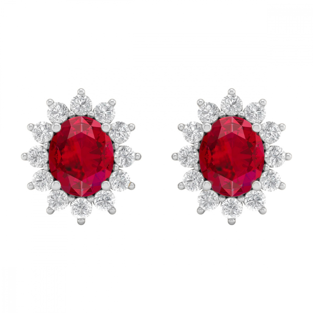 14K Gold Ruby Earrings