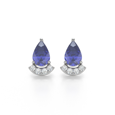 Orecchini in Oro Tanzanite Diamanti
