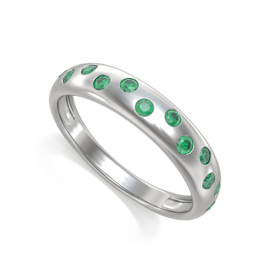 Gold Emerald Ring